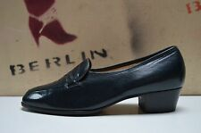 SPIESS Damen Pumps Betty Halbschuhe NOS True Vintage Block Heel UK 6,5 G petrol