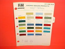 1971 FORD PICKUP TRUCK F-100 250 350 BRONCO ECONOLINE VAN CHATEAU PAINT CHIPS 71