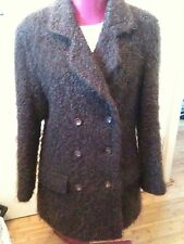 100% Authentic Vintage Gucci Brown Boucle Wool Car Coat Jacket Suit uk 12 eu 38