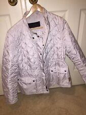 "COACH SIGNATURE DIAMOND QUILTED HACKING JACKET OYSTER XL  ""NWT"""