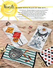 Wamsutta Beach Towels WEATHER VANE Chapeau Soleil YOUR PLACE IN THE SUN 1957 Ad