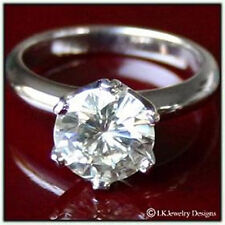 2.00 CT FOREVER ONE MOISSANITE ROUND SOLITAIRE ENGAGEMENT STAR RING