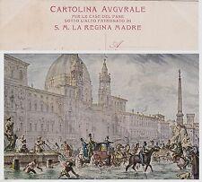# ROMA: INONDAZIONE PIAZZA NAVONA - CART. AUGURALE  PER LE CASE DEL PANE