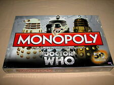 Sealed Monopoly Doctor Who 50th Anniversary Collector's Edition Board Game 2012