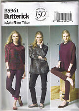 Easy Loose Fit Stretch Top Tapered Pants Butterick Sewing Pattern 16 18 20 22 24