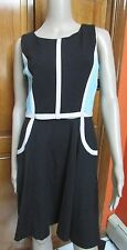 Taylor Color Block Dress Blue Black & White NWT Size 6
