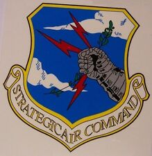 Window Bumper Sticker Military Air Force Strategic Air Command NEW Decal