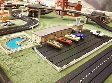 NMIB Atlas Plasticville Route 66 Hotel & Pool for HO T Jet Slot Race Track Sets