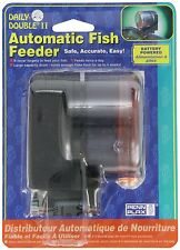 Penn-Plax Daily Double II Battery-Operated Automatic Fish Feeder , New, Free Shi