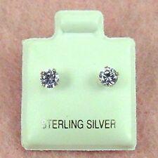 Sterling Silver - 4mm Round Alexandrite (CZ) Stud Earrings (SE381)