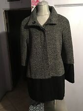 Inc International Concepts Gray & Black Women's Tweed Coat NWOT Nordstrom