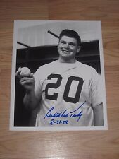 N.Y. Yankees Bob Turley Signed/Autographed Baseball 8x10 Photo/Free Shipping!