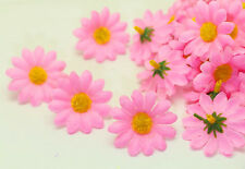 NEW 20PCS Pink Gerbera Daisy Heads Artificial Silk Flowers Wedding Dia 4cm