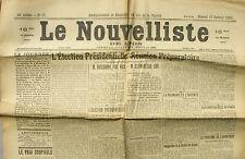 Le Nouvelliste de Lyon n°17 du 17/01/1920 - Election Présidentielle Préparatoir