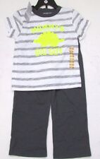 Carters Boys T-Shirt Top & Trousers Outfit 2 Piece Set - Grey 3 Years - Dinosaur