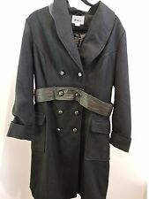 Converse One Star Wool Blend W/Leather Belt 4 Button Closure Coat - Size - XL
