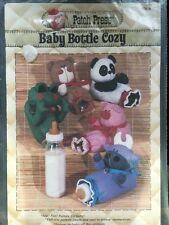 Sewing Patch Press Craft Pattern Baby Bottle Cozy Bear Cow Frog Pig
