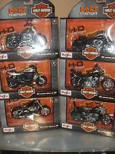 Toy Maisto Set Series 32 - 1:18 Harley Davidson Motorcycle Diecast  6 set