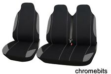 RENAULT TRAFIC 2+1 GREY SINGLE + DOUBLE COMFORT SOFT FABRIC SEAT COVERS