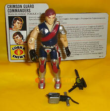 XAMOT (v1) 1985 Series 4 - With Card - G.I. Joe GI Hasbro ○○○○ USATO