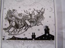 UM  RUBBER STAMPS Crafty Individuals Christmas Eve Santa Claus is Coming to Town