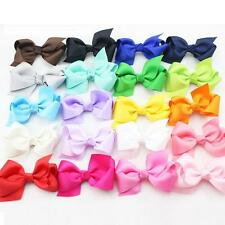 10pcs Girl Child Baby Hair Bow Mix Bowknot Clips Grosgrain Ribbon Boutique Bows