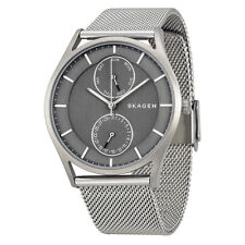 Skagen Holst Multi-Function Grey Dial Stainless Steel Mesh Unisex Watch SKW6172