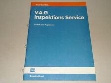 VAG Broschüre VW Audi Inspektions Service - Technik und Argumente, Stand 03/1986