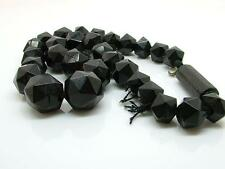 Antique Victorian Mourning Faceted Whitby Jet Beads/Choker Spares/Repair