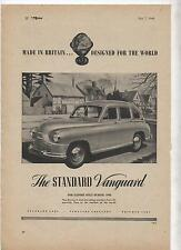Standard Vanguard Original Advertisement removed from a 1948 magazine