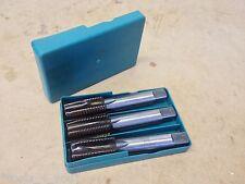 """Hall 1"""" x 8 Tpi HSS Taper, Second & Plug Hand Tap Set In Box (v)"""