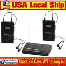 US Takstar WPM-200 UHF Wireless Monitor In-Ear Stereo 1 Transmitter &2 Receivers