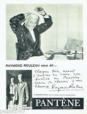 PUBLICITE ADVERTISING 016  1955   Pantène lotion Capillaire Raymond Rouleau