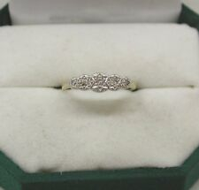 Vintage Lovely 18ct Gold And Platinum Five Stone Diamond Ring