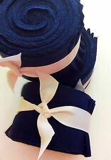 2.5 inch Navy  Solid Jelly Roll 100% cotton fabric quilting strips