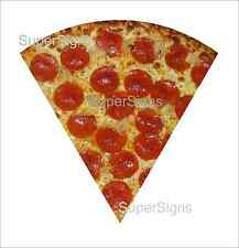"2 24"" PEPPERONI PIZZA SLICE Decal Sticker set for Delivery Shop Window Car Sign"