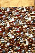 Pillow Cases Unique Handcrafted 2 Pack Pastry Coffee Theme Standard Size