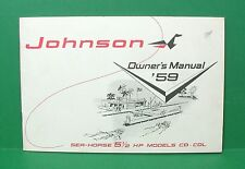 Original 1959 Johnson Sea-Horse 5 1/2 HP Outboard Motor Owners Manual - CD & CDL