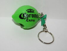 Corona Extra Lime Beer Advertising Promo Plastic Key Chain & Bottle Opener New