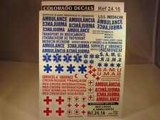 DECALS 1/24 CROIX ROUGE ET AMBULANCES - COLORADO  2416