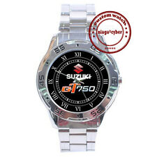 NEW Suzuki GT 750 Classic CUSTOM CHROME MEN WRIST WATCH WATCHES