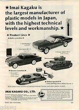 1967 ADVERT Imai Kagaku Co Plastic Model Cars Mustang Hovercraft Aston Martin