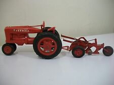 Vintage International McCormick Deering 2 Bottom Plow And Farmall Tractor
