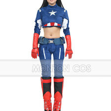 The Avengers Captain America Cosplay Costume Custom Made For Female  Cosplayer