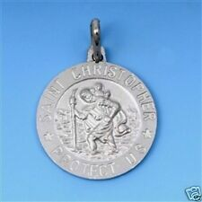 Saint Christopher Medal Pendant Protect US Sterling Silver Best Price Jewelry
