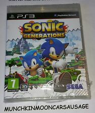 New Sealed Sonic Generations for PAL Sony PlayStation 3 PS3 FREE UK P&P Sega