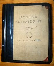 Unique Huge Album History of BOSTON ELEVATED RY MTA & WEST END RY 110 + Pages