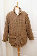"""P & J Haggart warm brown wool tweed check shooting country coat S 38"""" 97cm"""