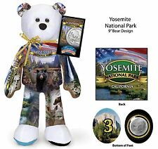 Yosemite California National Park and California State Quarter bear Set