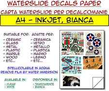 5 fogli A4 carta decalcomanie per inkjet, bianca - waterslide decals paper
